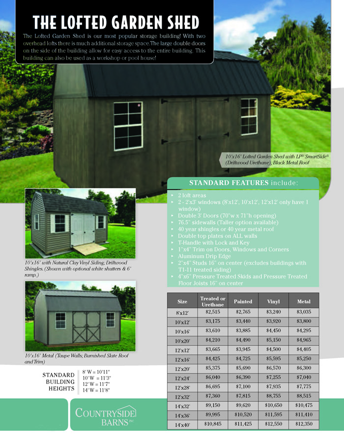 Image of Countryside Barns Brochure - Page 2