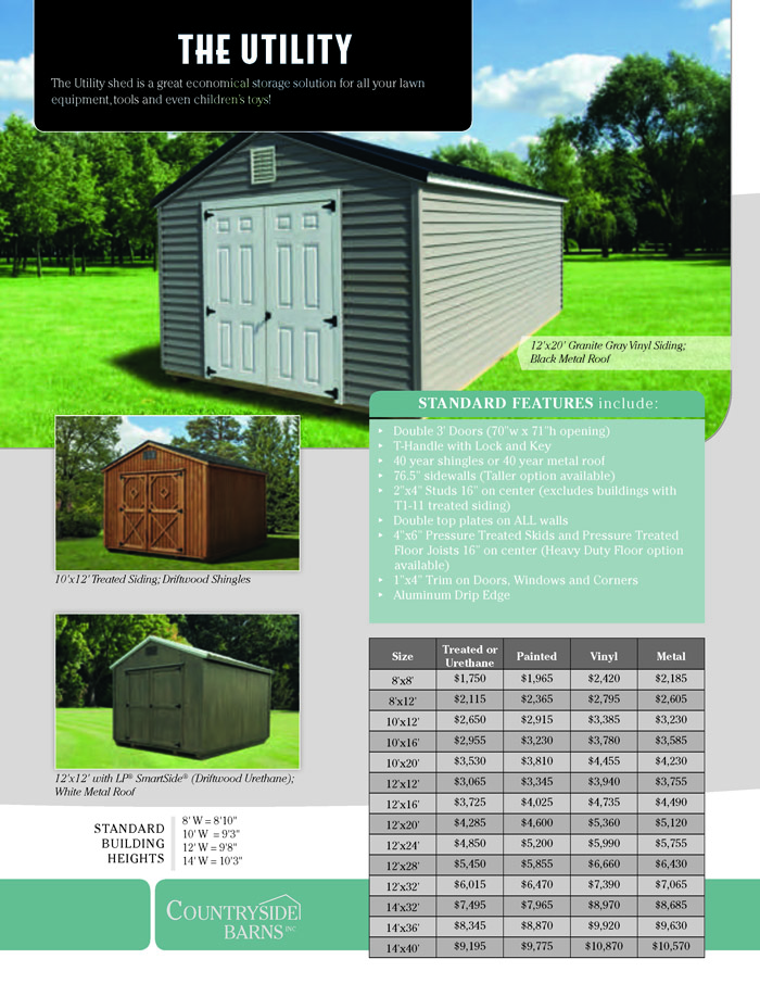 Image of Countryside Barns Brochure - Page 4