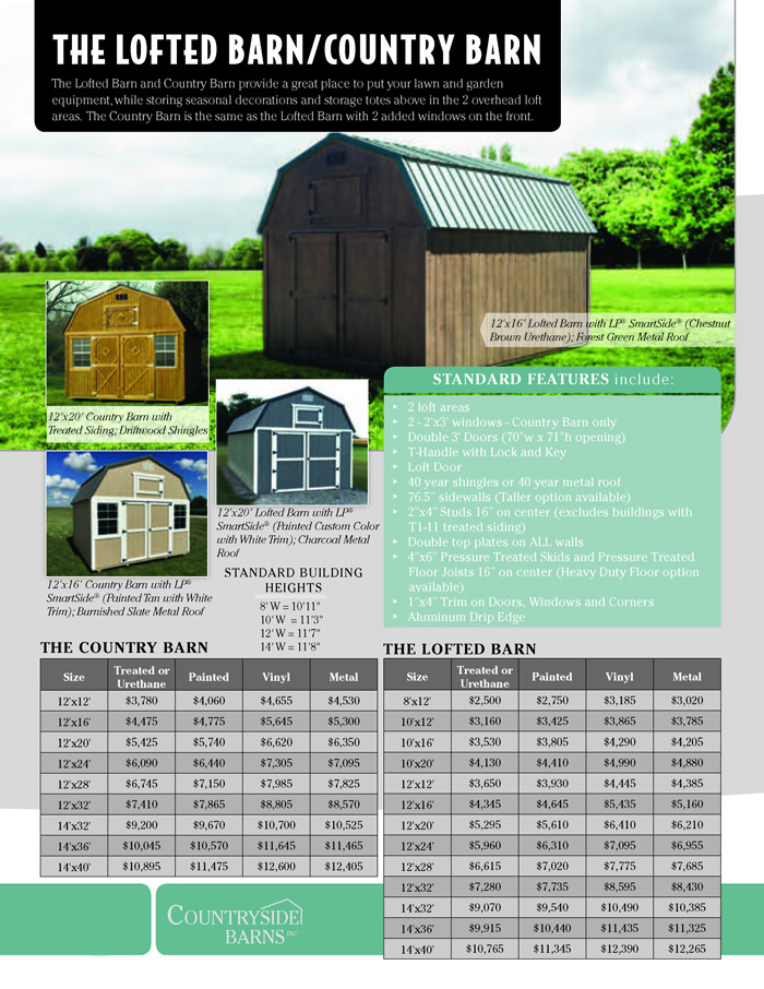 Image of Countryside Barns Brochure - Page 5
