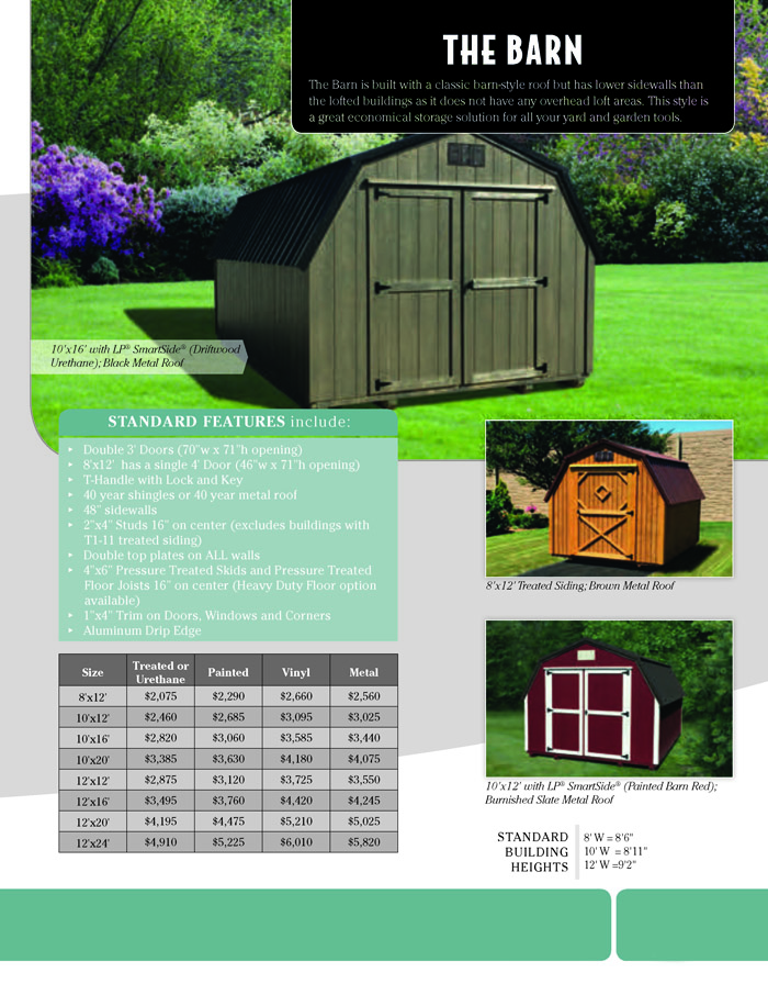 Image of Countryside Barns Brochure - Page 6