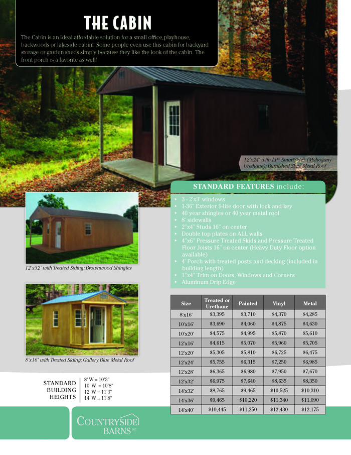 Image of Countryside Barns Brochure - Page 8