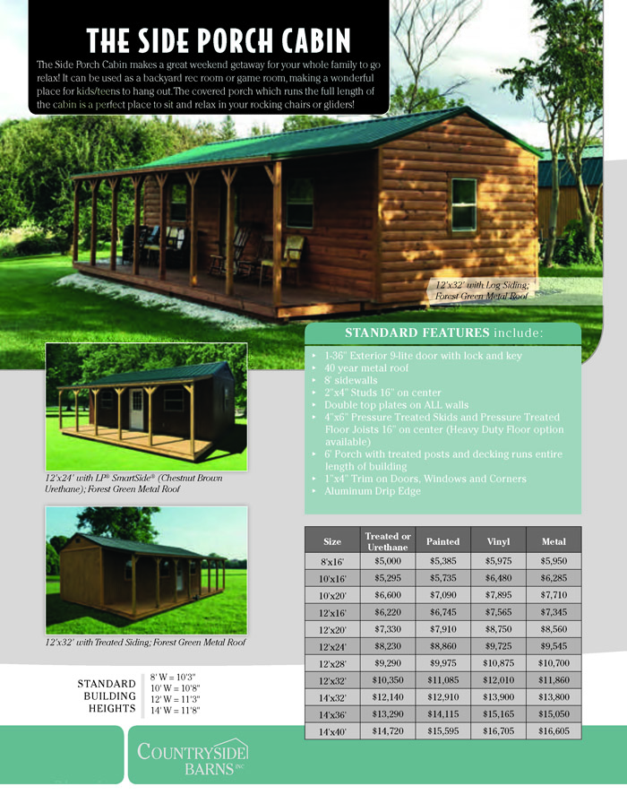 Image of Countryside Barns Brochure - Page 10